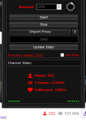 S] - Selling | Twitch View Bot ⭐ Lifetime $20 ⭐ Free Proxies