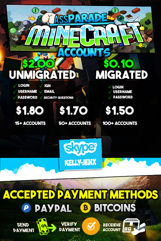 B] - ☆ Minecraft Accounts Shop ☆ [Full Access] ☆ 2$ ☆ | High-Minded