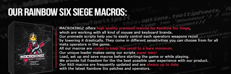 B] - Premium Rainbow 6 Siege macros/scripts [undetected, up2date